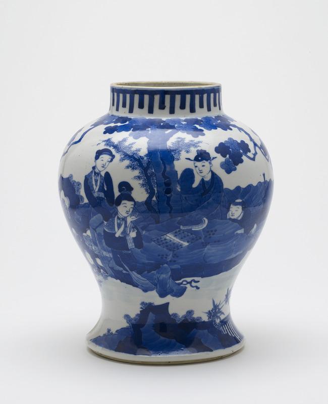 Baluster-shaped vase