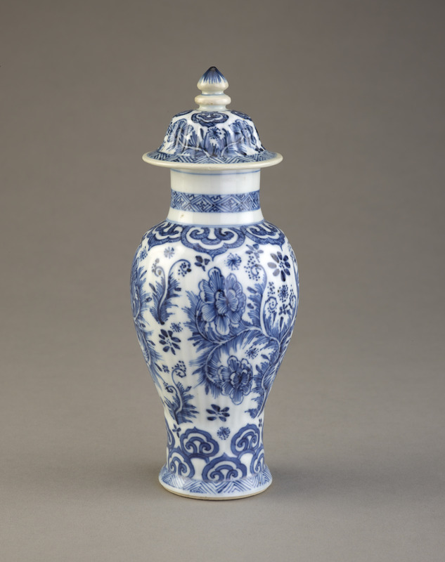 Jar with cover, one of a five-piece garniture