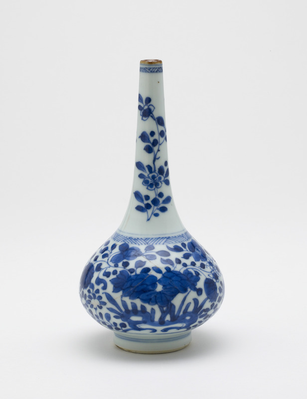 Bottle-shaped vase, one of a pair with F1982.19