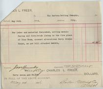 Charles Lang Freer to Barton voucher, May 5, 1906