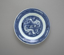Dish with dragon design, one of a pair with F1992.7