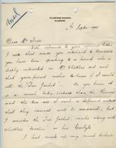 William Burrell to Charles Lang Freer, September 4, 1903
