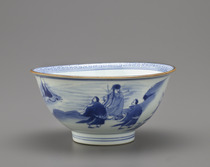 Bowl with design of Daoist Immortals and Shou Lao