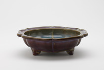 Flowerpot stand impressed with character liu (six)