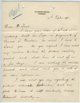 William Burrell to Charles Lang Freer, Sept. 4, 1903