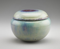 Vessel in the shape of a lidded alms bowl