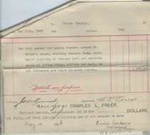 Charles Lang Freer to Vinton voucher, May 11, 1906