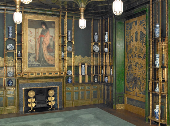 View Of The North East Corner Of The Peacock Room.