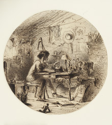 An Artist in His Studio, Seated before a Table