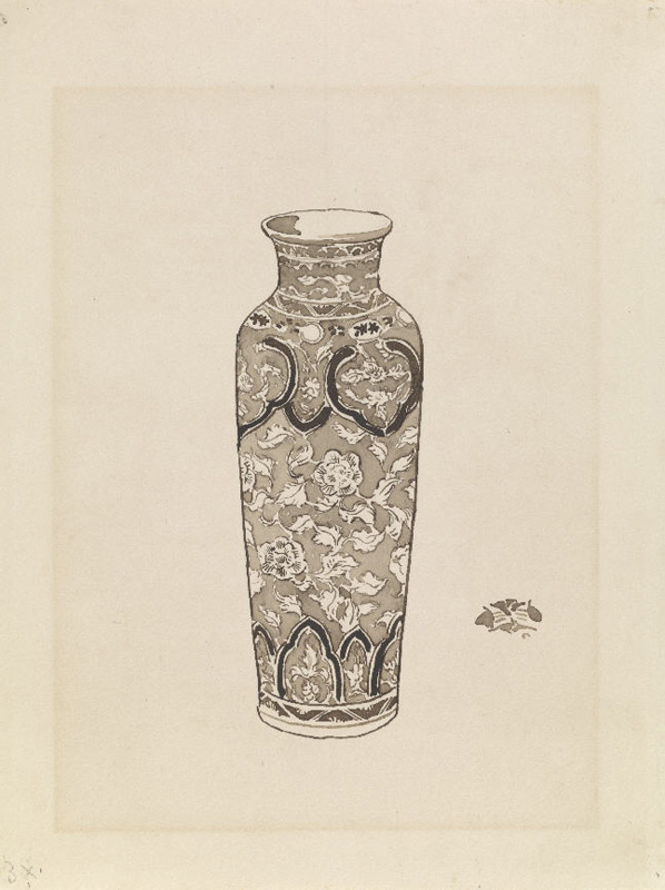 'A Chinese porcelain cylindrical jar'