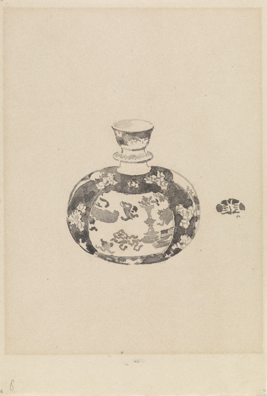 'A Chinese porcelain bottle'