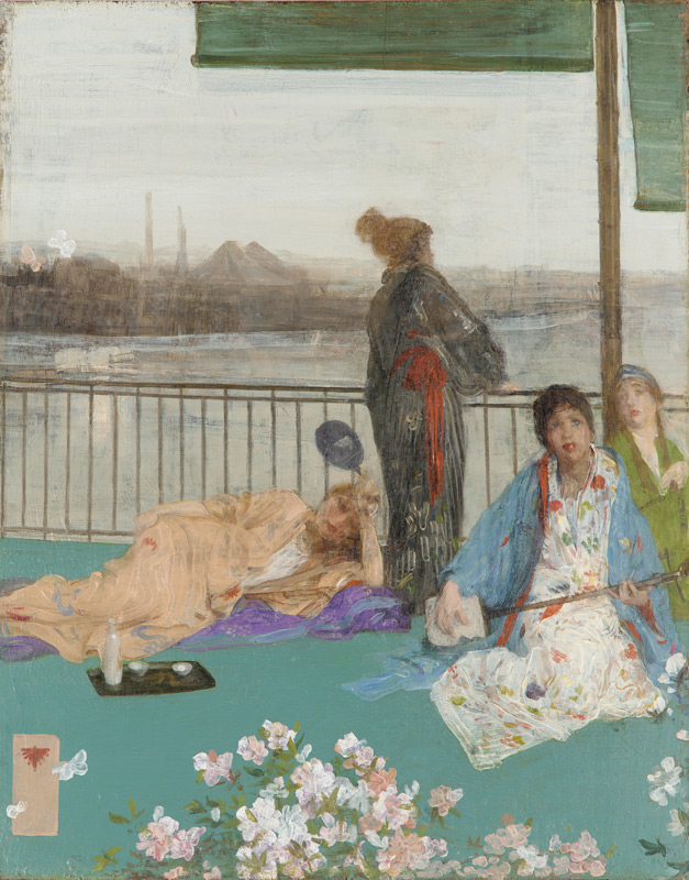 'Variations in Flesh Colour and Green - The Balcony'