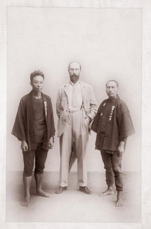 Charles Lang Freer and two rickshaw men