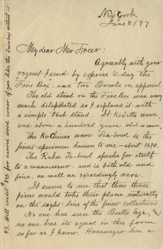 R.E. Moore to Charles Lang Freer, June 8, 1897