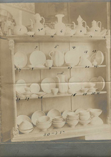 Photograph of the Horace N. Collection of Korean and Chinese ceramics, no date