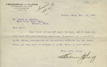 Frederick J. Flagg to Charles Lang Freer, March 15, 1907