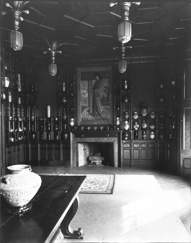 George W. Swain, north wall of the Peacock Room, 1908