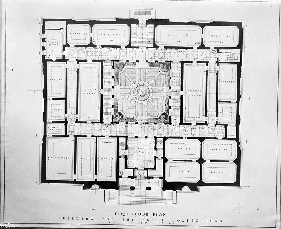 Freer Gallery floorplan